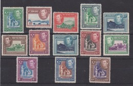 ST VINCENT 1938 - 1947 SET TO 10s (ex 5s) SG 149/158a LIGHTLY MOUNTED MINT Cat £23+ - St.Vincent (...-1979)