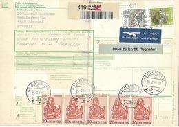 SWITZERLAND 1995  REGISTERED  PARCEL CARD  TO PAKISTAN - Zonder Classificatie