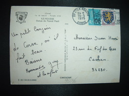 CP TP M. DE BEQUET 0,45 + NEVERS 0,15 OBL.MEC.13-3 1975 20 L'ILE ROUSSE CORSE - 1971-76 Marianne (Béquet)