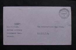 SUISSE - Enveloppe Du Camp D'Internement Anglais De Biezwil Pour Genève - L 55711 - Storia Postale