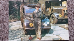 CPSM PRINCESS ELIZABETH IN ATS UNIFORM REPRO 1945 VEHICULE VETEMENT MILITAIRE - Royal Families