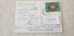 PEACE Isolated UN Onu 2017 2019 New York To Italy Letter Postcard Used Cover - New-York - Siège De L'ONU