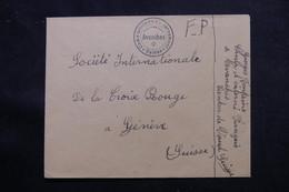 SUISSE - Enveloppe Du Camp D'Internement Français D 'Avenches Pour Genève - L 55715 - Storia Postale