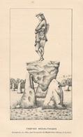 LES CERQUEUX Ex CERQUEUX DE MAULEVRIER  Trépied Mégalithique 1899 - Vieux Papiers