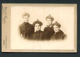 4 IRMÃS Fotografia Antiga VIDAL & FONSECA Photografo - Cç Combro LISBOA. Old Photo Cabinet PORTUGAL - Ancianas (antes De 1900)