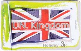 GREECE F-800 Prepaid Amimex - Flag Of United Kingdom - Used - Griechenland