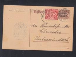 Bayern Dienst-PK 1920 Weilheim - Bayern