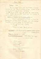 GUERRE 1914 1918 DOCUMENT Du LIEUTENANT RIGAUT 32 ème RGT DRAGONS - MISSION De L'ESCADRON SECTION CYCLISTE - 1914-18