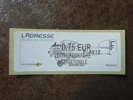 2010 LISA2  L'adresse Bréguet XIV  Lettre Prioritaire Internationale 0,75€ (vendue à La Faciale) ** MNH - 2010-... Illustrated Franking Labels
