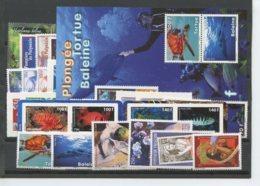 Polynesie Annees Completes (2009) N 862 A 897 Et BF 35 (Luxe) - Polynésie Française