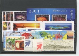 Polynesie Annees Completes (2011) N 935 A 977 Et BF 37 (Luxe) - Polynésie Française