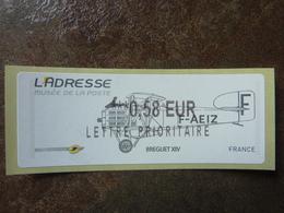 2010 LISA2  L'adresse Bréguet XIV  Lettre Prioritaire 0,58€ (vendue à La Faciale) ** MNH - 2010-... Illustrated Franking Labels