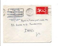 ALGERIE LETTRE A EN TETE DE CONSTANTINE 1958 - Covers & Documents