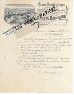 71 - Saône-et-loire - BRANGES - Facture BERNIGAUD - Moulins, Grains, Farines, Issues - 1897 - REF 135C - France