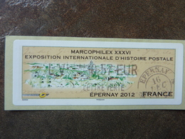 2012 LISA2  MARCOPHILEX EPERNAY  LETTRE VERTE 0,57€ (vendue à La Faciale) ** MNH - 2010-... Illustrated Franking Labels