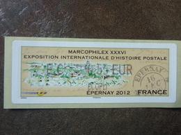 2012 LISA2  MARCOPHILEX EPERNAY  ECOPLI  0,55€ (vendue à La Faciale) ** MNH - 2010-... Illustrated Franking Labels
