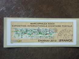 2012 LISA2  MARCOPHILEX EPERNAY  LETTRE PRIORITAIRE  0,60€ (vendue à La Faciale) ** MNH - 2010-... Illustrated Franking Labels