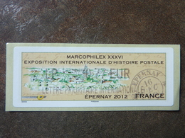 2012 LISA2  MARCOPHILEX EPERNAY  LETTRE PRIORITAIRE INTERNATIONALE  0,77€ (vendue à La Faciale) ** MNH - 2010-... Illustrated Franking Labels