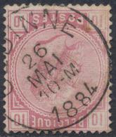 "émission 1883 - N°38 Obl Simple Cercle ""Gedinne"" - 1883 Leopoldo II"