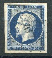 RC 16025 FRANCE N° 14A - 20c EMPIRE BLEU FONCÉ TB - 1853-1860 Napoleon III