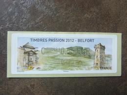 2012 LISA2  BELFORT  ECOPLI   0,55€ (vendue à La Faciale) ** MNH - 2010-... Illustrated Franking Labels