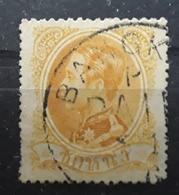 SIAM 1883 CHULALONGKORN 1 ER, Yvert No 4, 1 Songpy Jaune Orange Obl BANGKOK, TB - Siam