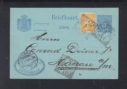 Niederländisch-Indien GSK Mit ZuF 1897 Nach Hanau - Netherlands Indies