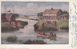 Indians In Chicago Circa 1833 , 00-10s - Indiens De L'Amerique Du Nord