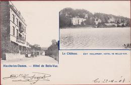 Marche-les-Dames Namur Hotel De Belle-Vue Le Chateau 1903 CPA Animee (En Très Bon état) (In Zeer Goede Staat - Namur