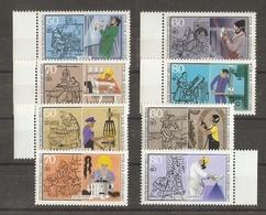 Allemagne Berlin 1986/7 - Artisanat - 2 Séries Complètes MNH - Tonnelier - Menuisier - Peintre - Tailleur - Vitrier... - Kilowaar (max. 999 Zegels)