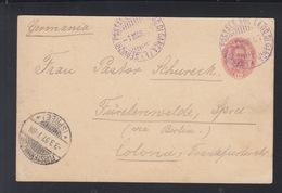 Cartolina Servizio Postale Sul Lago Di Garda 1897 - Marcophilie