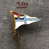 Badge Pin ZN006971 - Rowing Kayak Canoe Swimming Yugoslavia Croatia Split Veslacki Plivacki Sportski Klub Gusar - Aviron