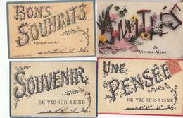 02- Vic Sur Aisne Lot De 10 Cartes Variees Et Scannees - Vic Sur Aisne