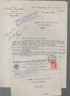 Prémery (58 Nièvre)  Lettre ETABLISSEMENT LAMBIOTTE Avec Son Enveloppe D'envoi 1934 (PPP21865) - France