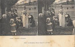 Carte Stéréoscopique E.L.D. Non Circulée - Paris: Bambins Et Nounous Au Parc - Stéréo Le Merveilleux - Estereoscópicas