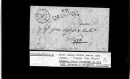 CG20  Lett. Da Carmagnola  X Nizza  3/8/1850 - Italia