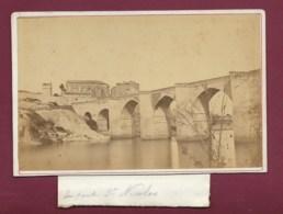 110320A - PHOTO ANCIENNE Circa 1870 - 30 LE PONT SAINT NICOLAS DE CAMPAGNAC SAINTE ANASTASIE - Autres Communes