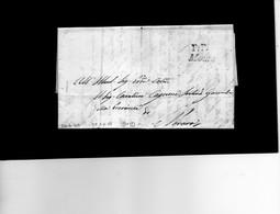 CG20  Lett. Da Momo X Novara 26/6/1840  - Bollo Lineare Inclinato Nero Tipo 3° Mm. 19 + P:P. - Italia