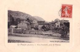 CPA : Le   Pouzin (07)  Vue D'ensemble Prise De L'Ouvèze   Des Vieilles Pierres !!   Ed  Broglio Patissier - Le Pouzin
