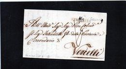 CG20  Lett. Da Montù Beccaria X Vercelli 30/4/1846 - Bollo Stamp. Nero Senza Data + Bollo Di Transito Stradella - Italia