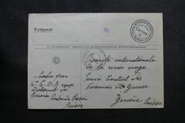 SUISSE - Enveloppe Du Camp D'Internement De Carena Pour Genève - L 55732 - Storia Postale