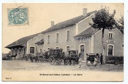 FRANCE - 40 - LANDES - St SEVER SUR ADOUR : LA GARE. - Saint Sever