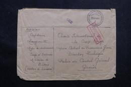 SUISSE - Enveloppe Du Camp D'Internement De Büron Pour Genève Avec Contrôle Postal - L 55734 - Storia Postale