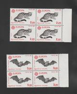 FRANCE / 1986 / Y&T N° 2416/2417 ** : Europa (2 TP) X 4 Paires En Bloc Dont 2 BdF D - Nuevos
