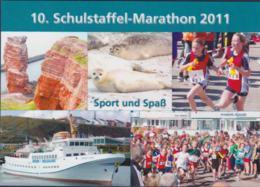 Germany Card Helgoland 2011 10. Schullstaffel Marathon Helgoland (DD20-60) - Cartas