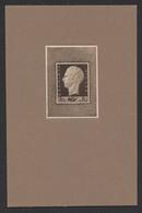 Projet Non Adopté (Marcel Rau) - Tête Du Roi Léopold III Profil De Gauche 70ctm Brun Foncé Sur Carton. STES 4212 - Essais & Réimpressions