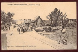 Origny-Sainte-Benoite Pont Du Canal Animé Travaux Réfection * Aisne 02390 * Origny Sainte Benoite Canton De Ribemont - France