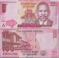 Malawi Pick-Nr: 65 (2019) Bankfrisch 2019 100 Kwacha - Malawi