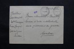 SUISSE - Enveloppe Du Camp D'Internement De Langwies Pour Genève  - L 55752 - Storia Postale