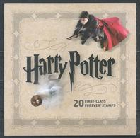 USA. Scott # 4825-44, BC279 MNH Booklet Of 20 Folded. Harry Potter Hard To Find. 2013 - 1981-...
